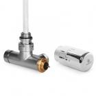 Zestaw zintegrowany termostatyczny kątowy z rurką zanurzeniową +głowicaSlim