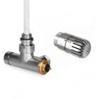 Zestaw zintegrowany termostatyczny kątowy z rurką zanurzeniową +głowicaEtna