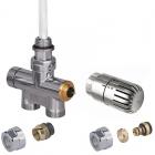 Zestaw zintegrowany termostatyczny prosty z rurką zanurzeniową +głowicaEtna